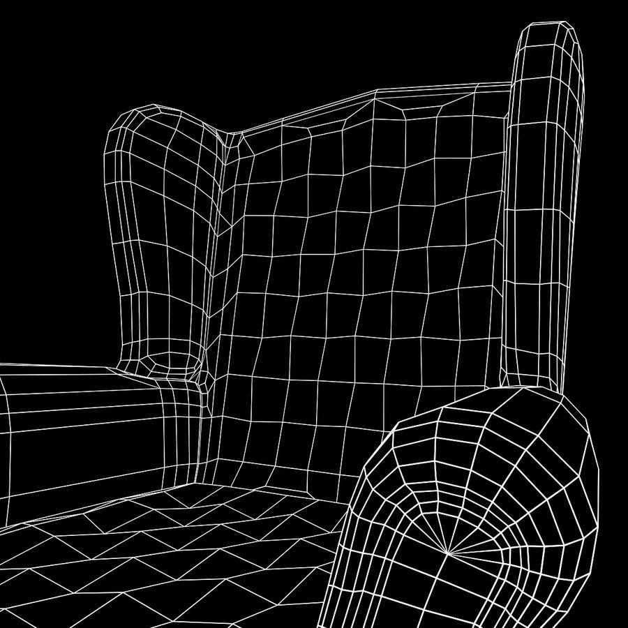 扶手椅棕色 royalty-free 3d model - Preview no. 22