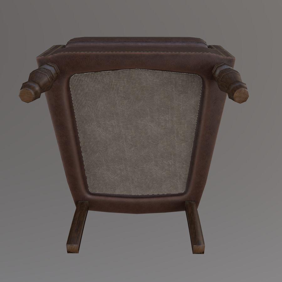 扶手椅棕色 royalty-free 3d model - Preview no. 10