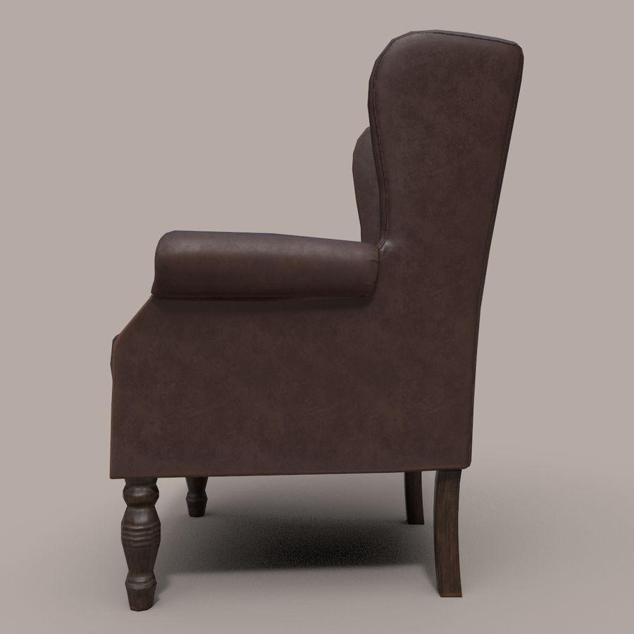 扶手椅棕色 royalty-free 3d model - Preview no. 4