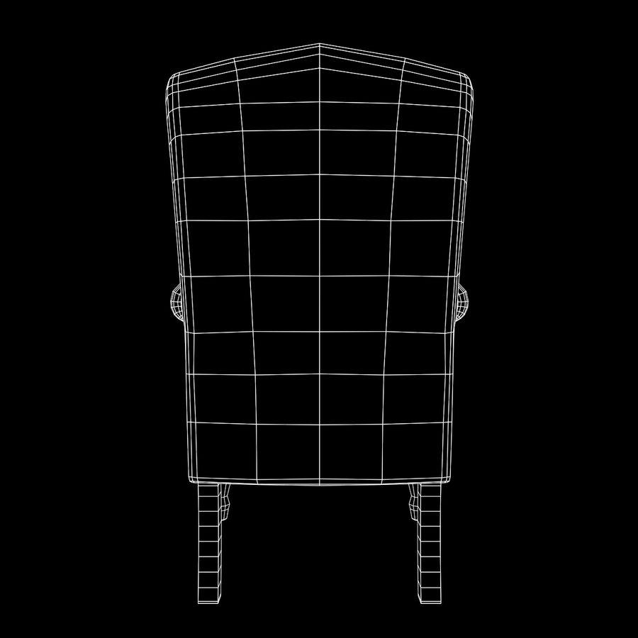 扶手椅棕色 royalty-free 3d model - Preview no. 19