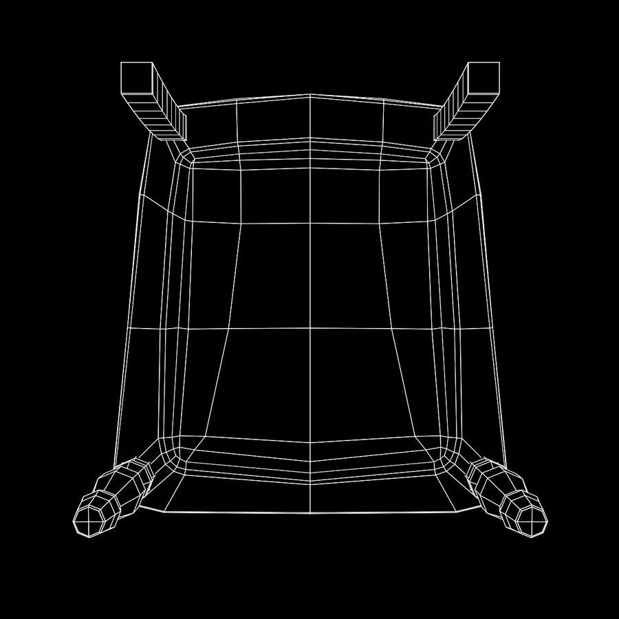 扶手椅棕色 royalty-free 3d model - Preview no. 20