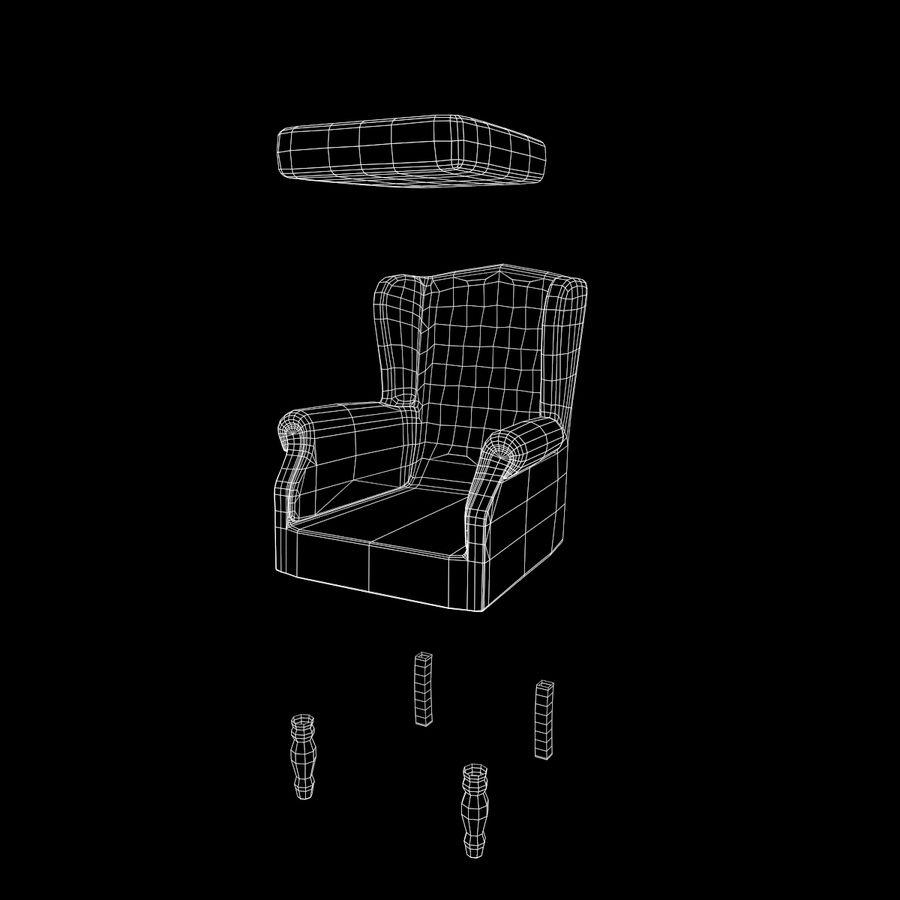 扶手椅棕色 royalty-free 3d model - Preview no. 23