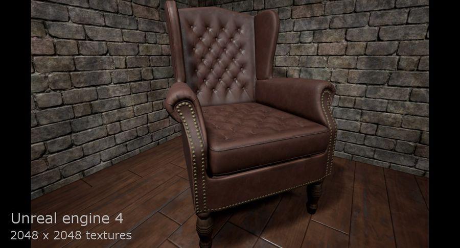 扶手椅棕色 royalty-free 3d model - Preview no. 16