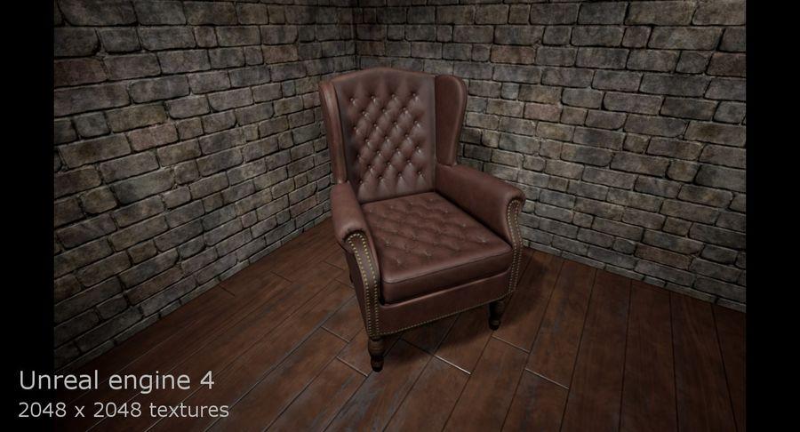 扶手椅棕色 royalty-free 3d model - Preview no. 15