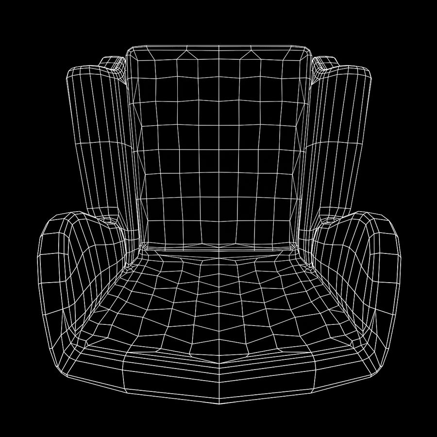 扶手椅棕色 royalty-free 3d model - Preview no. 21