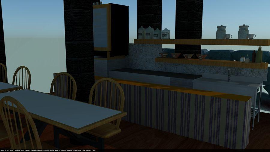 Kafé royalty-free 3d model - Preview no. 4