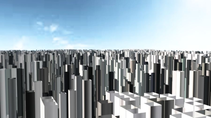 Cubic New York 3D model royalty-free 3d model - Preview no. 6