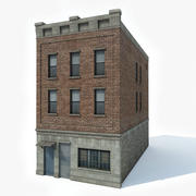 Apartment Building 4 3d model