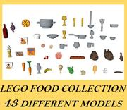 LEGO Food Kollektion 3d model