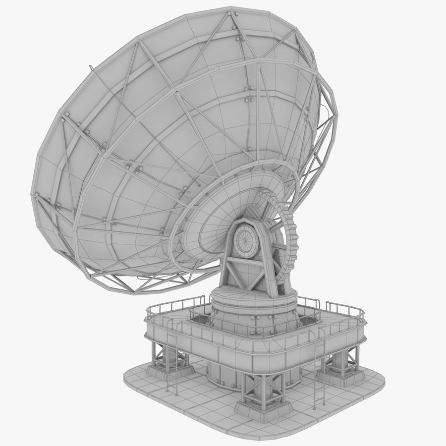 Satellietschotel groot royalty-free 3d model - Preview no. 13