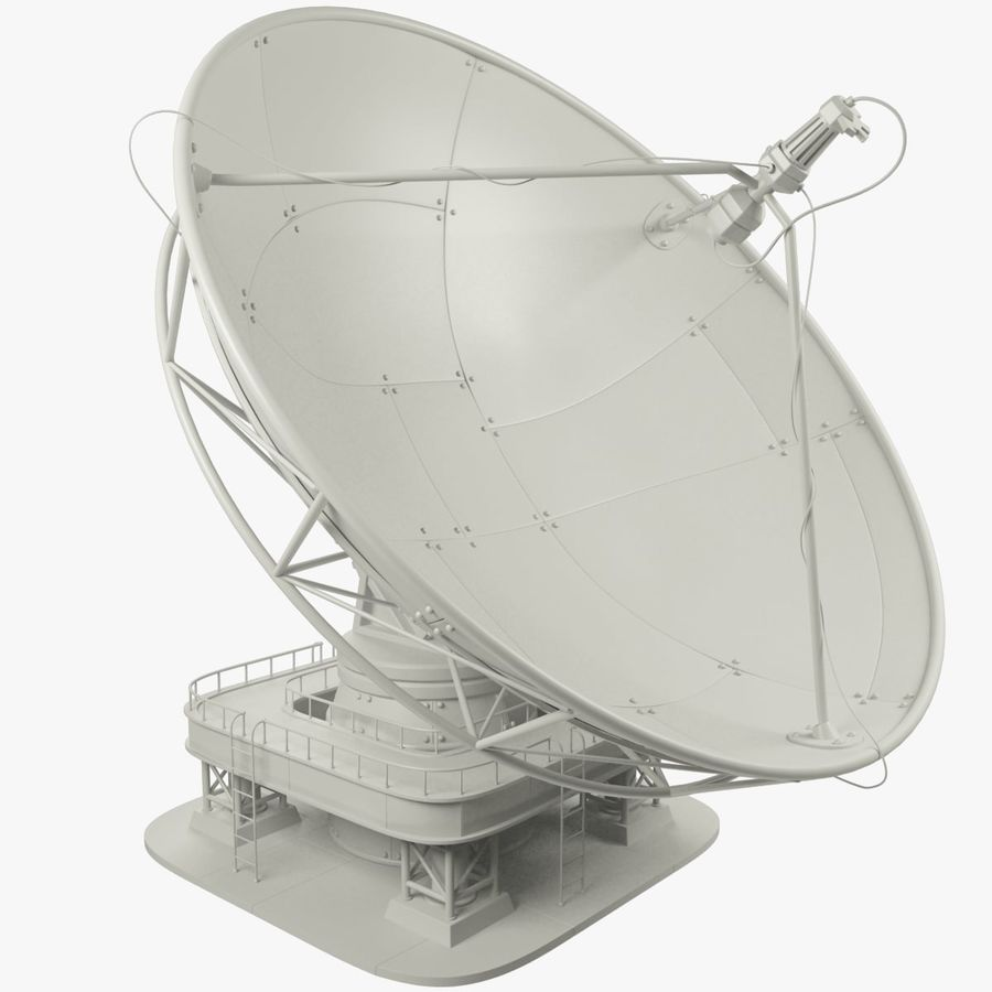 Antena satelitarna duża royalty-free 3d model - Preview no. 1
