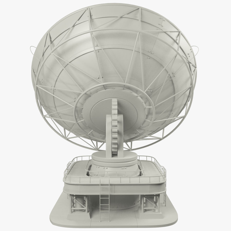 Satellietschotel groot royalty-free 3d model - Preview no. 4