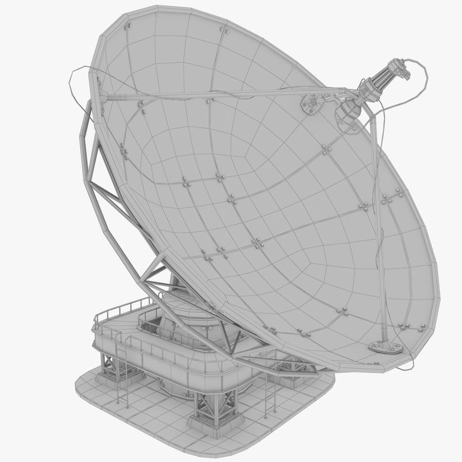 Satellietschotel groot royalty-free 3d model - Preview no. 12