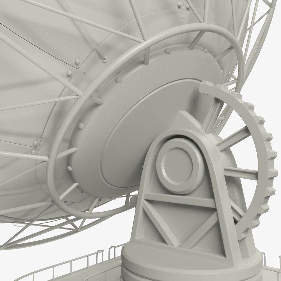 Satellietschotel groot royalty-free 3d model - Preview no. 10