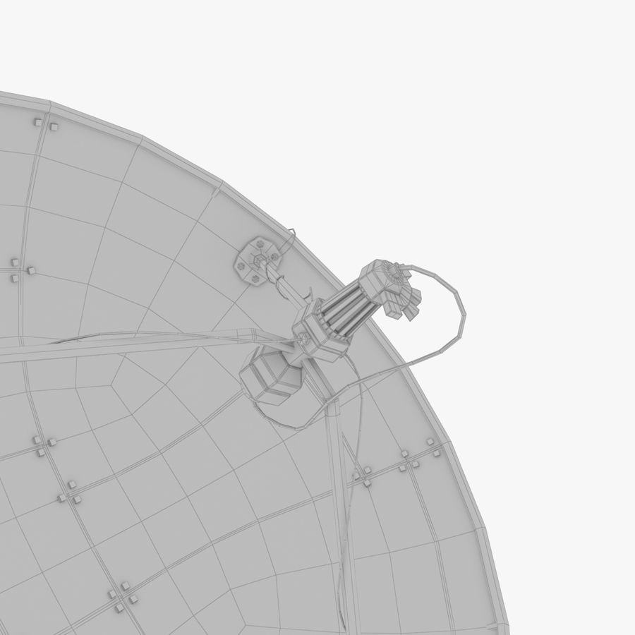 Satellietschotel groot royalty-free 3d model - Preview no. 16
