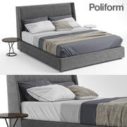 Poliform Chloe Bed Tables ILDA 3d model