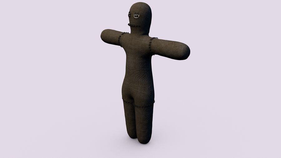 Voodoo doll royalty-free 3d model - Preview no. 2