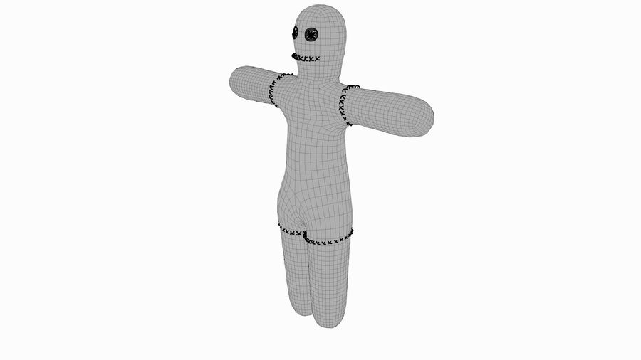 Voodoo doll royalty-free 3d model - Preview no. 4