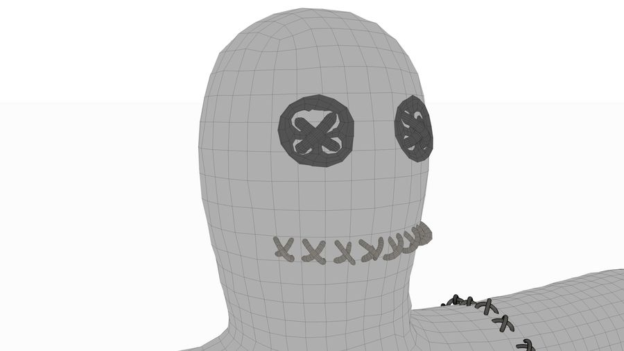 Voodoo doll royalty-free 3d model - Preview no. 5