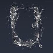 Carta U Splash modelo 3d