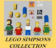 Collection LEGO Simpsons 3d model