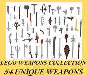 Colección de armas LEGO 54 modelo 3d