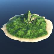 Island terräng 3d model
