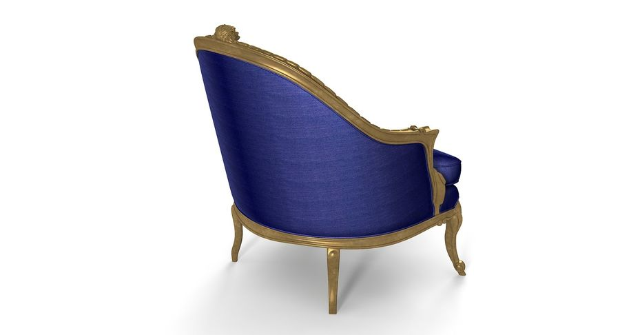 VIctorian Baroque Armchair royalty-free 3d model - Preview no. 4