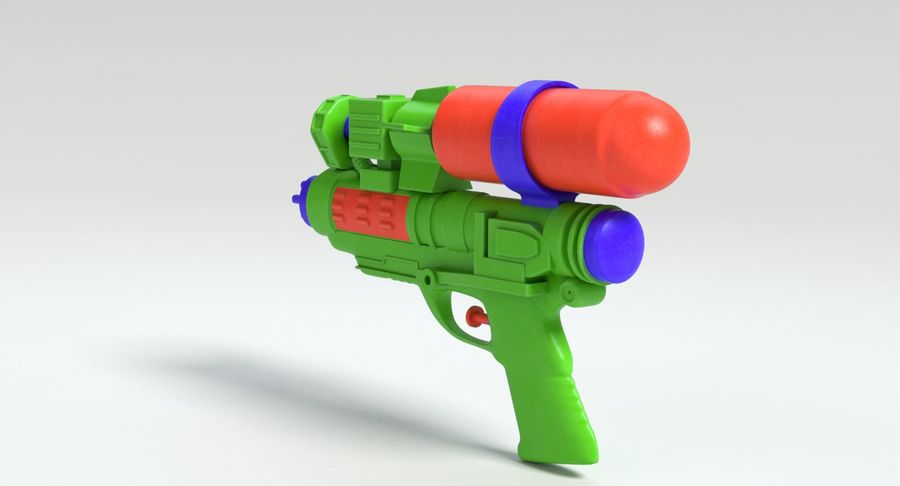 Vattenpistol royalty-free 3d model - Preview no. 6