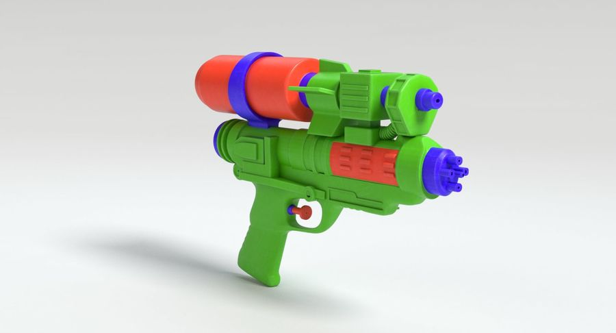 Vattenpistol royalty-free 3d model - Preview no. 9