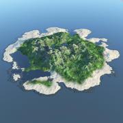 Terreno de la isla modelo 3d