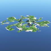 3D Island Terrain 3d model