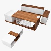 经理桌 3d model