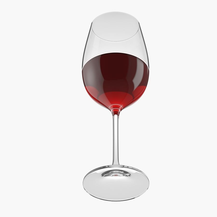 wine glass royalty-free 3d model - Preview no. 4
