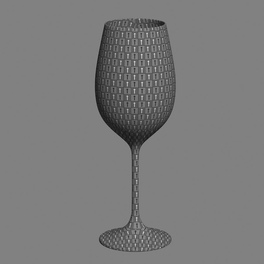 wine glass royalty-free 3d model - Preview no. 9