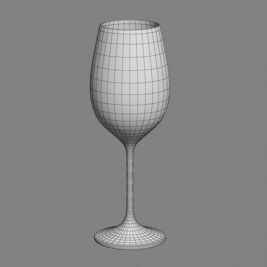 wine glass royalty-free 3d model - Preview no. 6