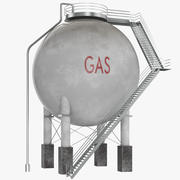 Spherical Oil Tank 3d model
