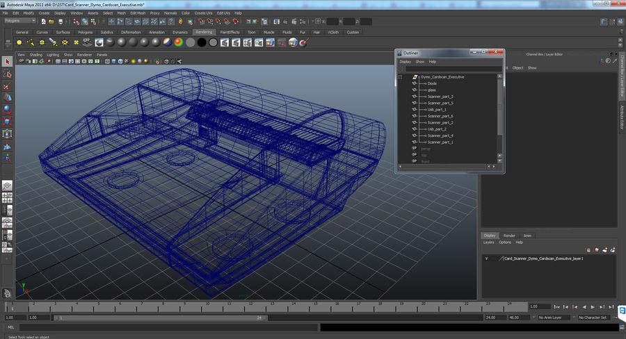 Scanner de cartões Dymo Cardscan Executive 3D Model royalty-free 3d model - Preview no. 15