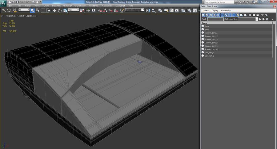 Scanner de cartões Dymo Cardscan Executive 3D Model royalty-free 3d model - Preview no. 13
