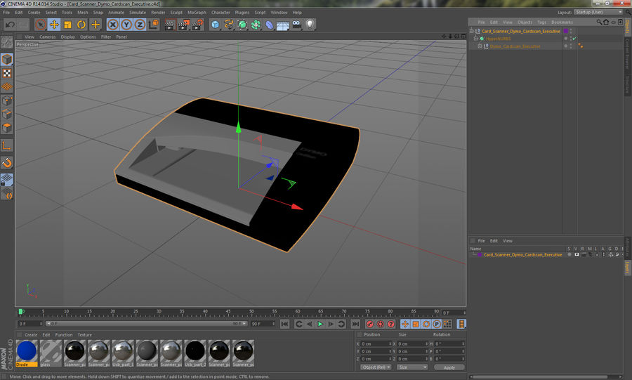 Scanner de cartões Dymo Cardscan Executive 3D Model royalty-free 3d model - Preview no. 14