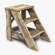 木製はしご2 3d model