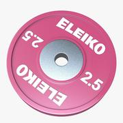 Eleiko 역도 기술 디스크 3d model