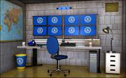 Sala di sorveglianza 3d model