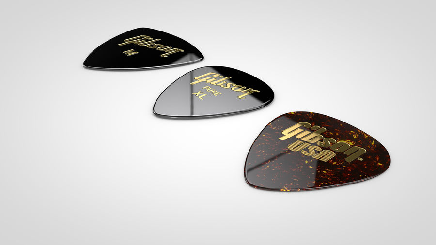 Gibson Guitar Picks royalty-free 3d model - Preview no. 8