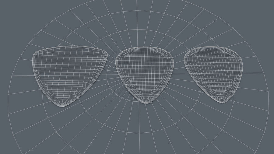 Gibson Guitar Picks royalty-free 3d model - Preview no. 7