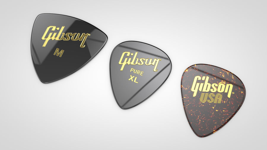 Gibson Guitar Picks royalty-free 3d model - Preview no. 2
