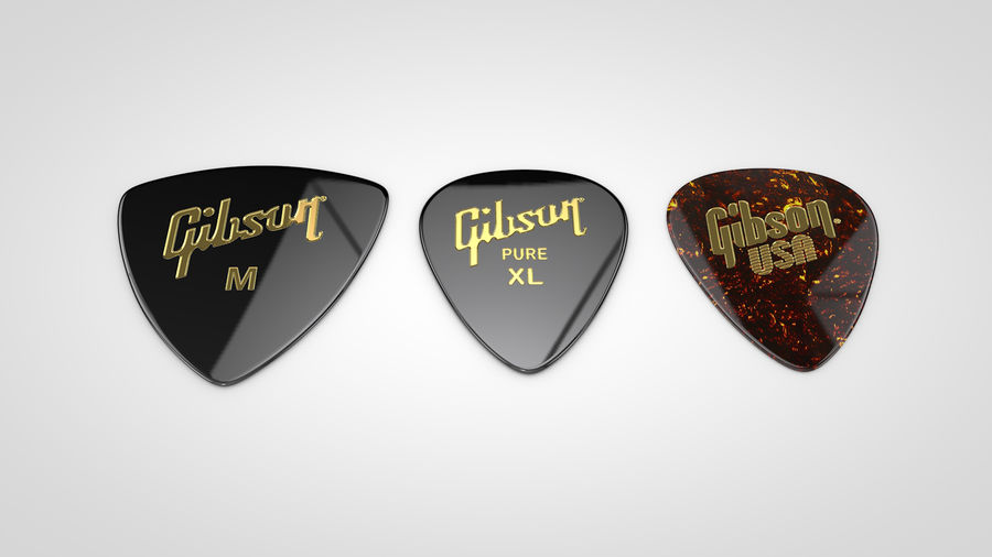 Gibson Guitar Picks royalty-free 3d model - Preview no. 5