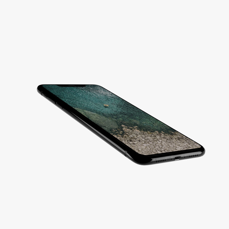 Apple iPhone X royalty-free 3d model - Preview no. 5