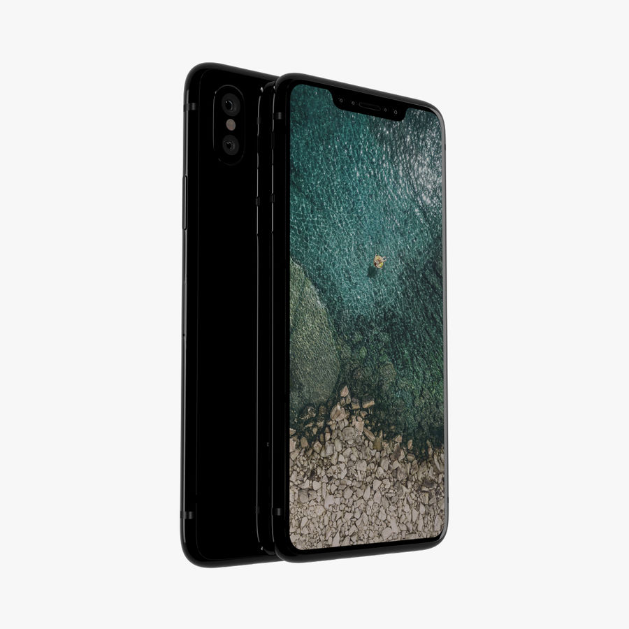 Apple iPhone X royalty-free 3d model - Preview no. 1