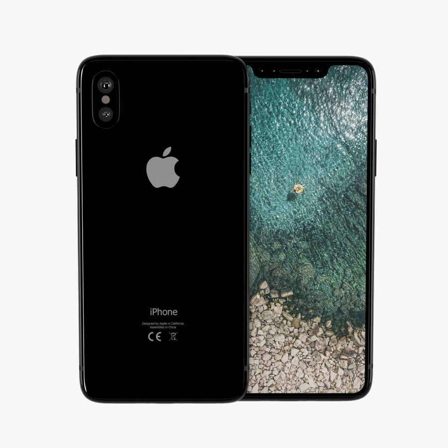 Apple iPhone X royalty-free 3d model - Preview no. 2